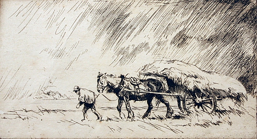 Haycart and Rainstorm, C1921