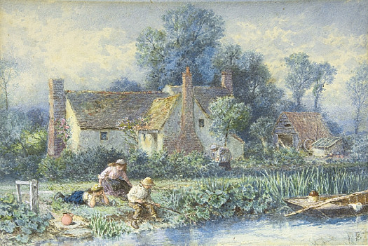 Fishing from the River Bank