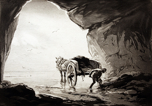 Gathering Seaweed In a Cave Ii, C1922