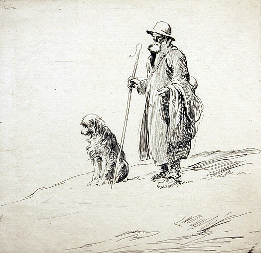 Shepherd and Dog, C1925