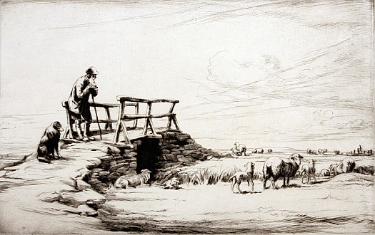 Shepherd on a Bridge