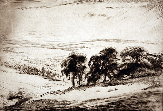 Landscape with Shepherd, C1928