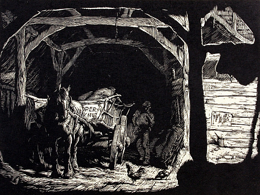 Unloading in the Barn, C1929
