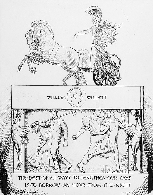 The Sunlight SaverMr Punch, in gratitude to the late Mr Willett, ventures to suggest a design for the proposed memorial
