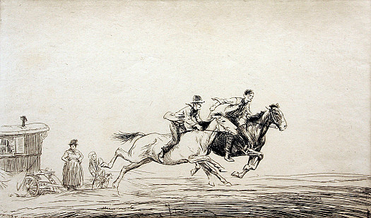 Galloping Past, C1931