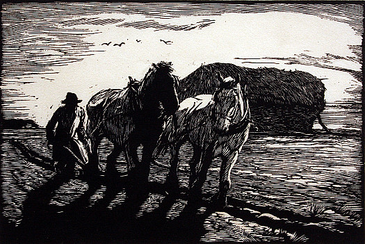 Late Afternoon Ploughing, C1935