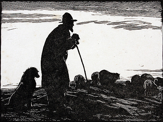 Shepherd, Sunset, C1929