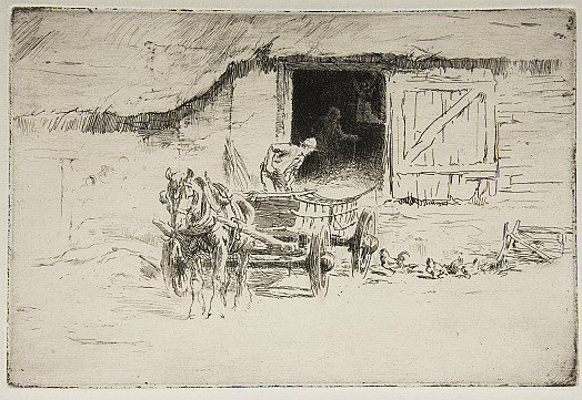 Outside the Barn, C1912