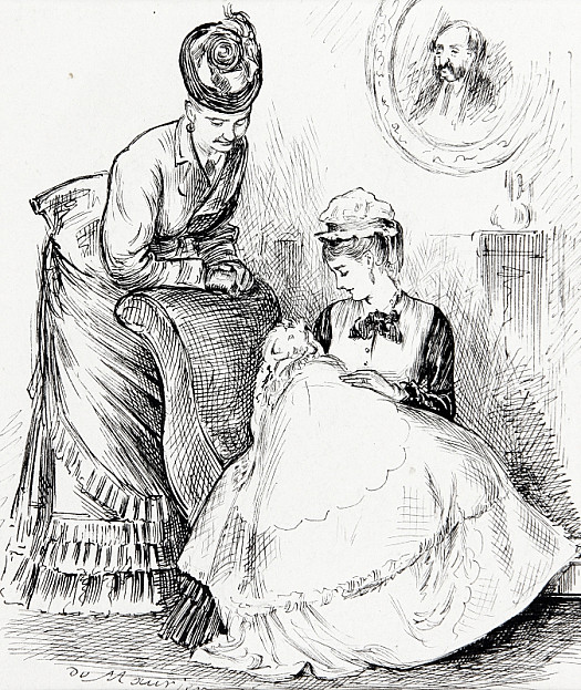 Waiting For the Verdictthe German Nurse: Is It a Cherman or an English Paby?the Mamma: Well I Don't Know. You See She Was Born In England, but My Husband Is Germanthe German Nurse: Ach Soh! Zen Ve Vill Vait to See Vat Lenkvetch She Vill Schbeak, and Zen Ve Vill Know!
