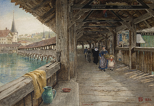The Chapel Bridge, Lucerne