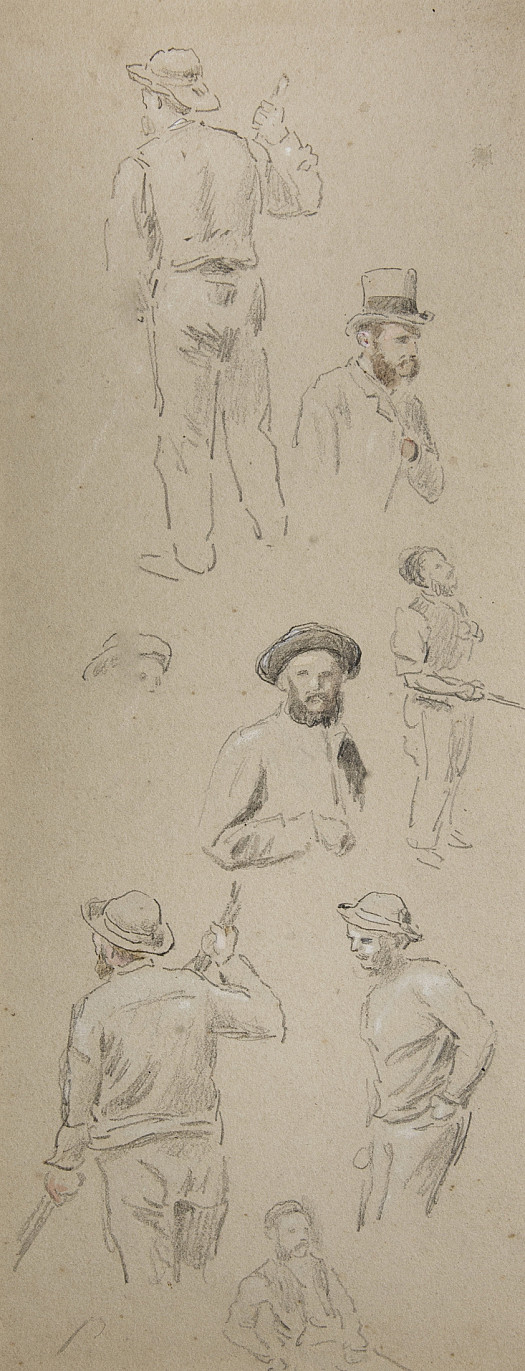 Labourers and a Gentleman In a Top Hat