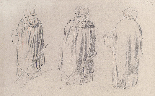 Cloaked Woman