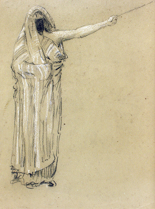Arab Figure Pointing