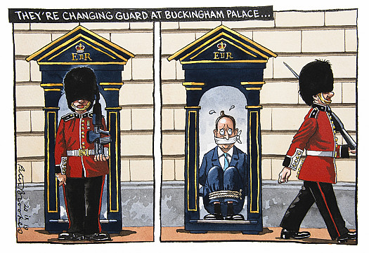 They're changing guard at Buckingham Palace