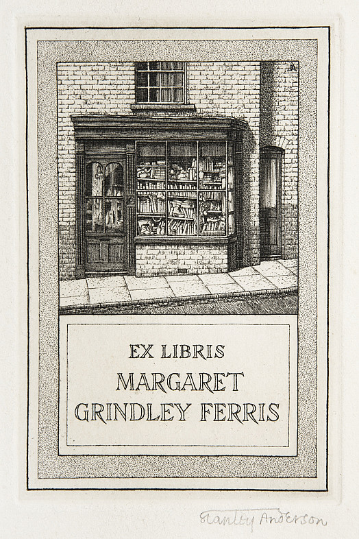 Bookplate for Margaret Grindley Ferris