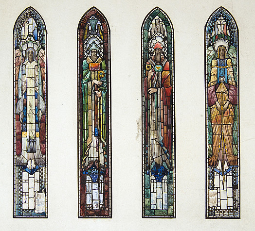 Two Saints and Two Angels: A Design for Stained Glass Windows