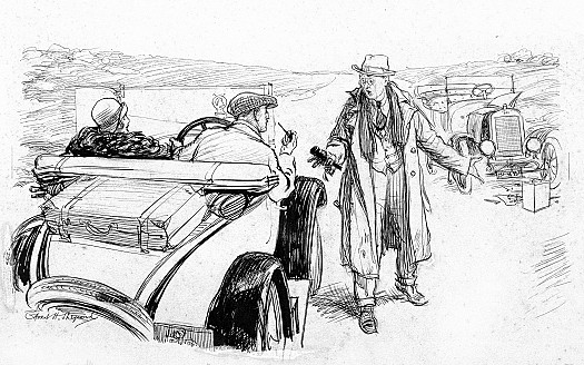 Stranded Traveller (miles from anywhere): 'Excuse me, but my car has broken down. Do you know anything about Fords?'