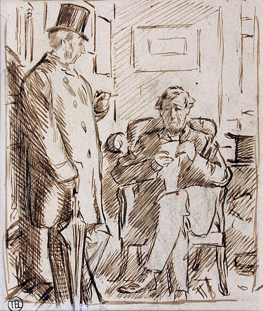 'Whenever Orders Are Received from Parties Painfully Bereaved' –Visitor (to Friend Lately Left a Widower). 'Hello, Tom! That Looks a Stiffish Bill You've Got There!'Tom. 'Ah, How Those Rascals of Undertakers Do Fleece You! They Know You Can Hardly Help Your Self! of Course, In My Poor Wife's Case I Would Cheerfully Have Paid Double. but One Hates to Be Done. – Um!'