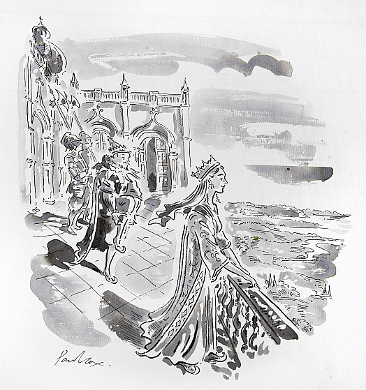 A fair and pleasing sight was the Princess of the Outer Isles as she stood on the terrace in the clear sunshine of the summer morning, looking over the King's gardens