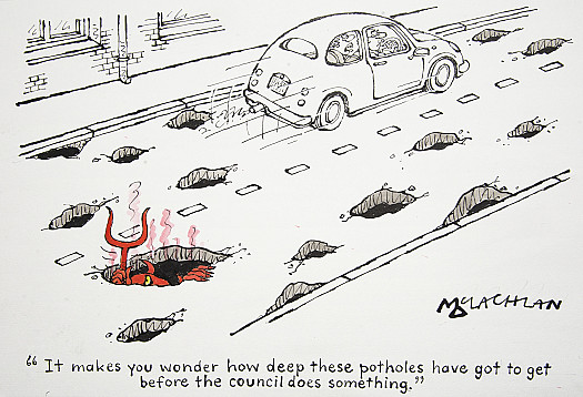 It Makes You Wonder How Deep These Potholes Have Got to Get Before TheCouncil Does Something