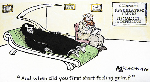 And when did you first start feeling grim?