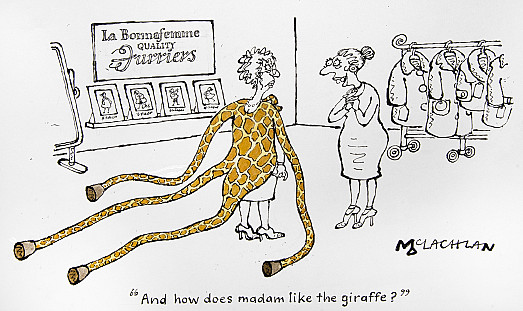 And how does madam like the giraffe?