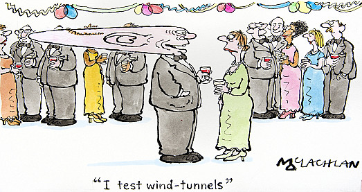 I test wind-tunnels