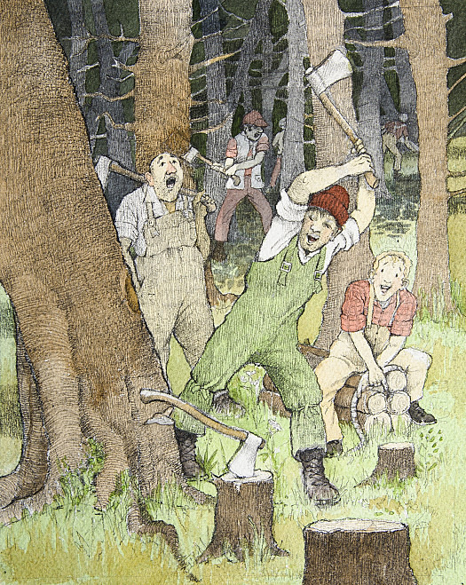Woodcutters Singing at their Work