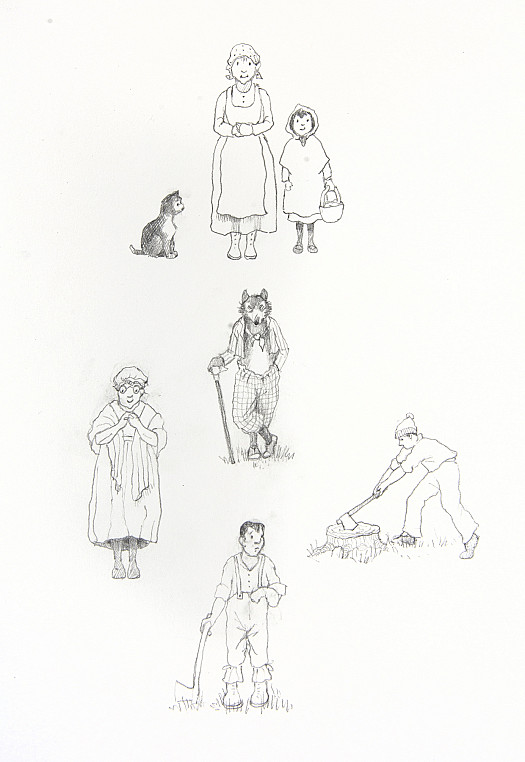 Red Riding Hood, The Wolf, Granny and Woodcutters
