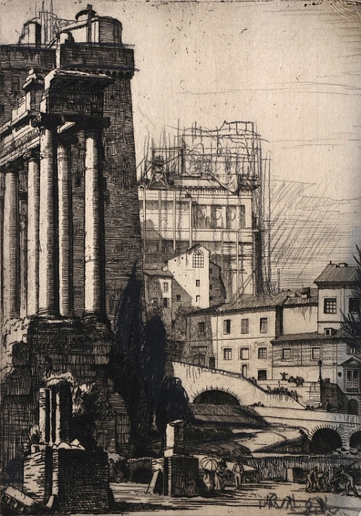 The Roman Forum and the Building of the Vittorio Emanuele Monument