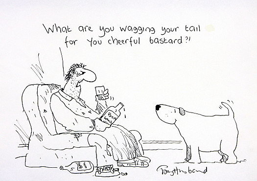What Are You Wagging Your Tail For You Cheerful Bastard?!
