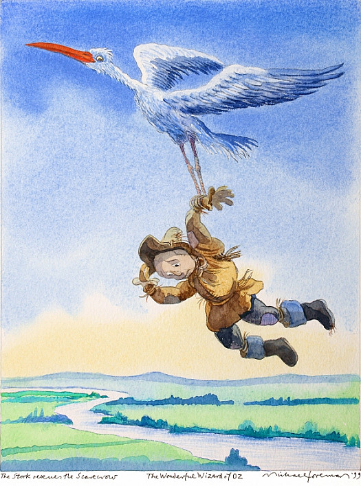 The Stork Rescues the Scarecrow