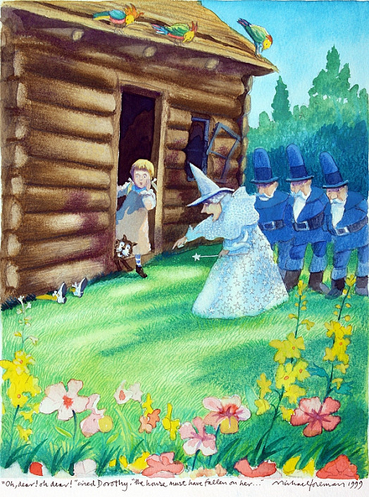 'Oh Dear! Oh Dear!' Cried Dorothy, 'the House Must Have Fallen On Her ...'