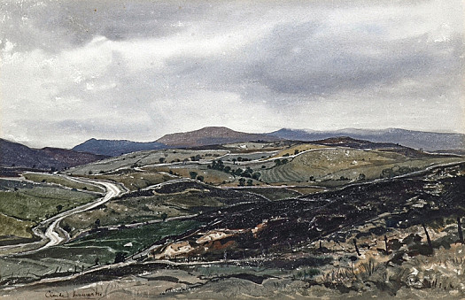 A Welsh Landscape, with Approaching Rain