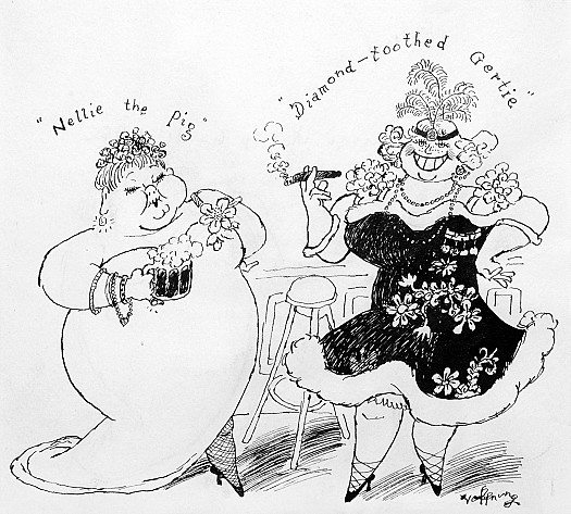 'Nellie the Pig' & 'Diamond-Toothed Gertie' Two Rip-Roaring Characters