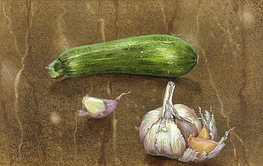 Courgette and Garlic