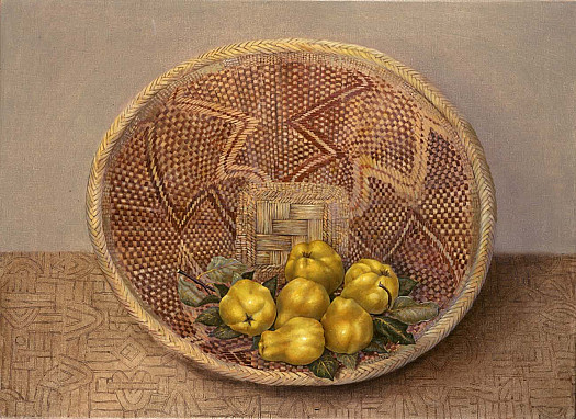 Quinces On African Basket