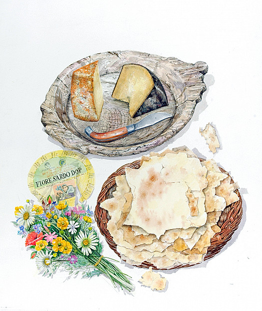 Aged Pecorino and Pane Carasau (Carta Di Musica)