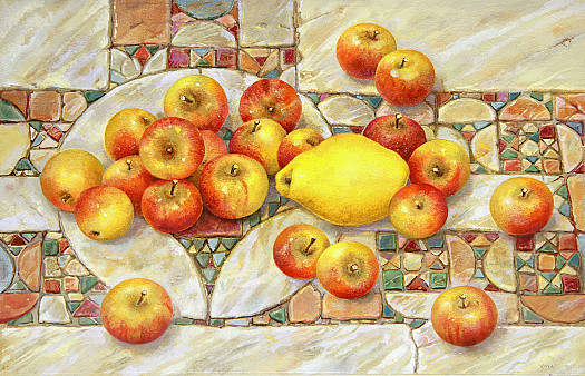 Quince and Apples On Cosmatesque