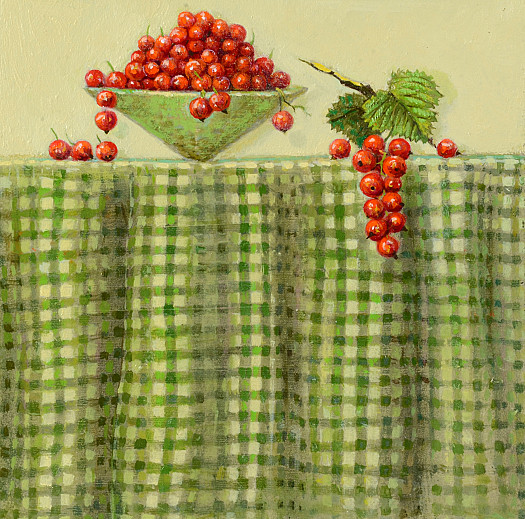 Redcurrants On Gingham