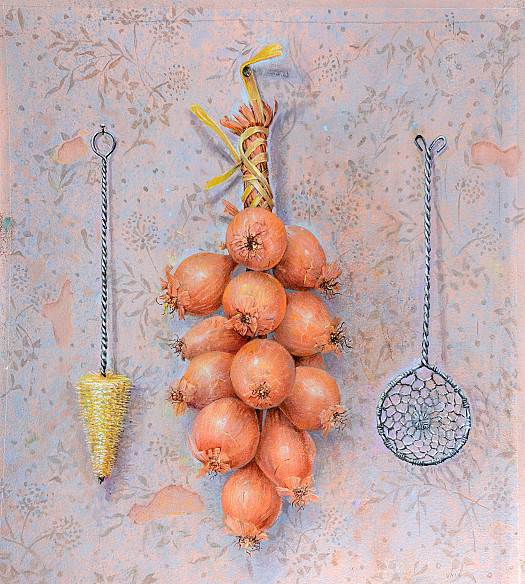 Shallots and Utensils