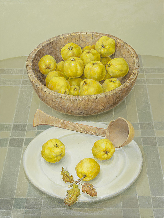 Quinces In Wooden Bowl