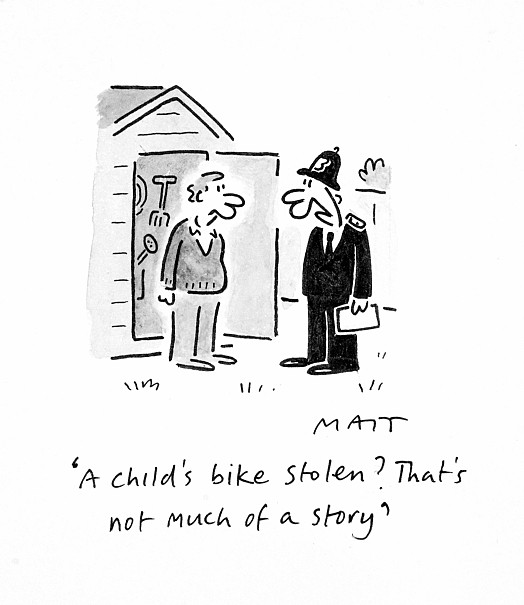 A Child's Bike Stolen? That's Not Much of a Story