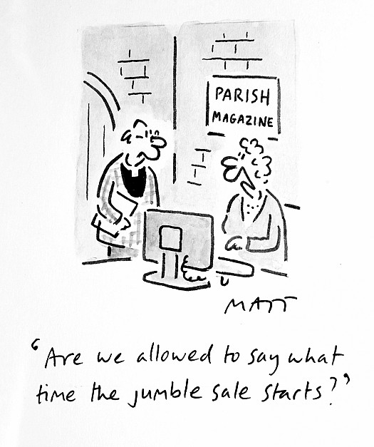 Are We Allowed to Say What Time the Jumble Sale Starts?