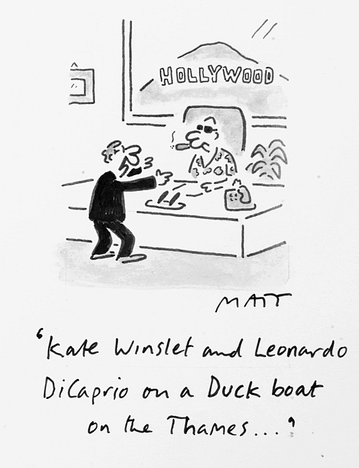 Kate Winslet and Leonardo Dicaprio On a Duck Boat On the Thames...