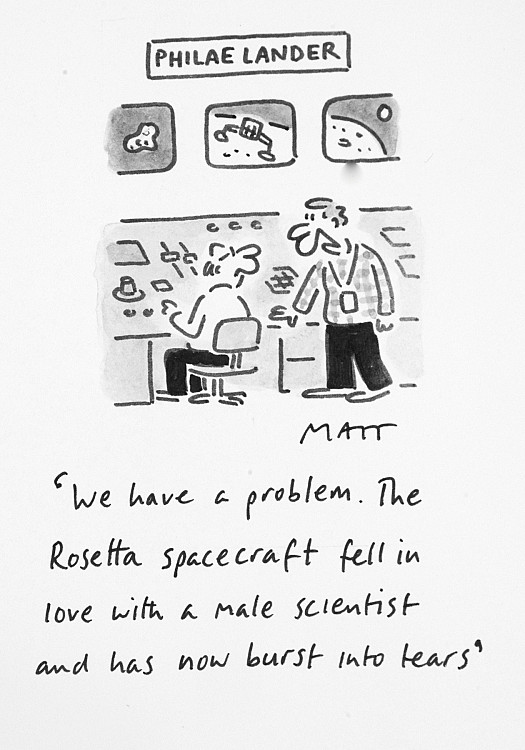 We Have a Problem. the Rosetta Spacecraft Fell In Love with a Male Scientist and Has Now Burst Into Tears