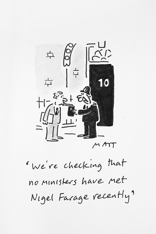 We're Checking That No Ministers Have Met Nigel Farage Recently