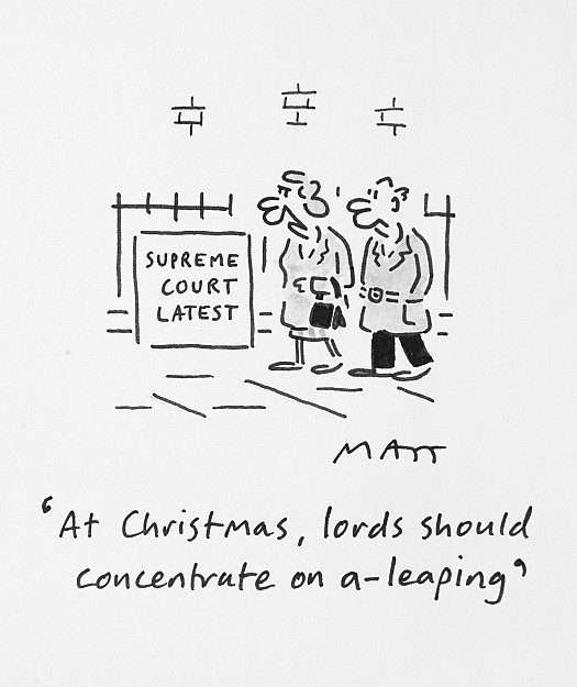 At Christmas, Lords Should Concentrate On A-Leaping