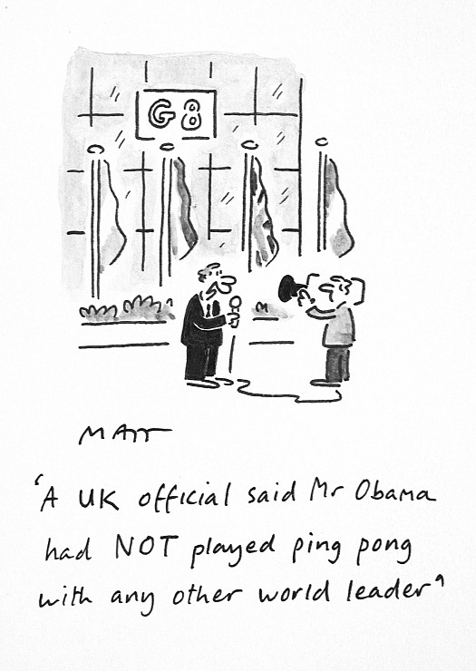 A Uk Official Said Mr Obama Had Not Played Ping Pong with Any Other World Leader
