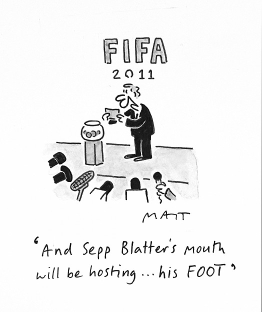 And Sepp Blatter's Mouth Will Be Hosting ... His Foot